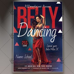 Belly Dancing Flyer - PSD Template (psdmarket) Tags: arabiannights bellydance bellydancenight bellydanceparty bellydanceschool bellydancing bellydancingflyer bellydancingposter danceflyer flyerpsd partypsd