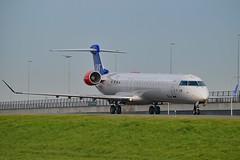 """Karl Viking"" SAS Scandinavian Airline System OY-KFF Bombardier CRJ-900LR (CL-600-2D24) cn/15231 opby Cimber A/S since 01-03-2015 wfu 09-12-2017 std at LJU 12-12-2017 - 27-07-2018 @ Taxiway Q EHAM / AMS 04-11-2017 (Nabil Molinari Photography) Tags: karlviking sas scandinavian airline system oykff bombardier crj900lr cl6002d24 cn15231 opby cityjet taxiway q eham ams 04112017"