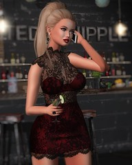 Baby, don't be late. (desiredarkrose) Tags: deaddollz martini blonde avatar amitie chichica stealthic slblog slfashion virtualphotography virtualworld style slstyle lace chic kunglers