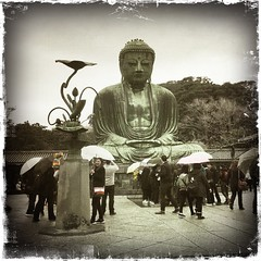 The Great Buddha of Kamakura (Calton) Tags: kamakura daibutsu buddha statue japan hipstamatic