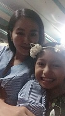 Mom and I with covers (ghostgirl_Annver) Tags: asia asian firls mom daughter annver teen teens child kids cover smile