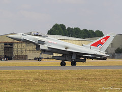 Royal Air Force EF-2000 Typhoon ZK318 (birrlad) Tags: fairford ffd riat airshow aircraft aviation airport airplane airplanes raf royal airforce 100 years titles decals livery rrr british uk zk318 eurofighter ef2000 typhoon fgr4 eufi 08bs079