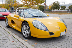 Renaul Sport Spider (Miguel Angel Prieto Ciudad) Tags: sports car driving driver convertible sportcar coche auto motor automotive petrolhead yellow sonyalpha alpha3000 mirrorless