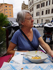 Kathy in Italy (JRR) Tags: italy kathy wife eating food rome