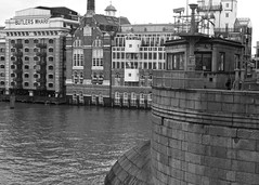 Butlers wharf London (alicejack2002) Tags: london thames bw building river leica