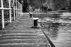 Jetty (Stuart.67) Tags: blackwhite mono d800 nikon water saltford somerset england railings river avon