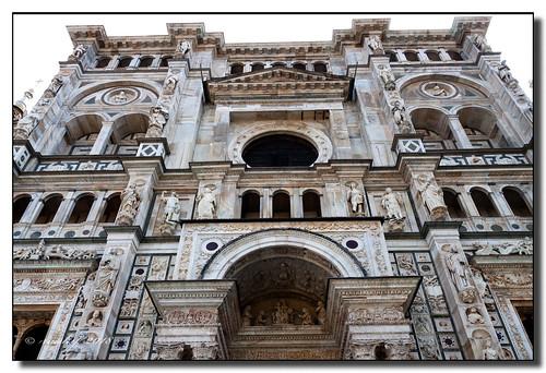 Fachada de la Certosa de Pavía (Italia)