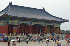 Temple of Heaven, Beijing, China (Miche & Jon Rousell) Tags: china beijing templeofheaven temple beams blue green hallofprayerforgoodharvests