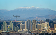 A little dust on top (ihikesandiego) Tags: san diego city sky line cuyamaca mountain snow helicopter