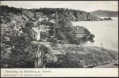 Postkort fra Agder (Avtrykket) Tags: bolighus hus postkort pram sjø uthus arendal austagder norway nor
