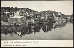 Postkort fra Agder (Avtrykket) Tags: bolighus brygge hus postkort pram uthus arendal austagder norway nor