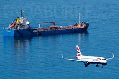 British Airways G-TTNG 5-2-2019 (Enda Burke) Tags: gib gibraltar lxgb ba britishairways a320 a320neo airbusa320 airbusa320neo canon canon7dmk2 avgeek aviation airplane airport arrival chip sea ocean landing landingear runway travel lhr london londonheathrow planes plane gttng