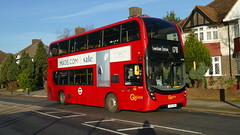 Hybrid 178 (londonbusexplorer) Tags: goahead london adl enviro 400 mmc hybrid eh190 yy67uru 178 lewisham station woolwich tfl buses