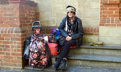 Streetlife (railfan3) Tags: adelaide streetphotography streetscene streetlife northterrace homelessperson bagwoman southaustralia baglady bohemianwoman womanstreet