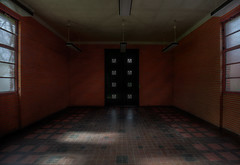 """"""" MORGUE ENTRANCE """" (Wiffsmiff23) Tags: urbex abandoned decay derelict desolate entrance morgue darkness spooky horror death spinechilling reflections shadows"""