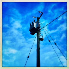 Onward and Upward (JulieK (thanks for 8 million views)) Tags: 2019onephotoeachday squareformat telegraphtuesday htt ireland irish wexford telegraphpole lowpov wires winter bluesky pole 100xthe2019edition 100x2019 image1100