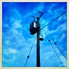 Onward and Upward (JulieK (thanks for 8 million views)) Tags: 2019onephotoeachday squareformat telegraphtuesday htt ireland irish wexford telegraphpole lowpov wires winter bluesky pole 100xthe2019edition 100x2019 image1100