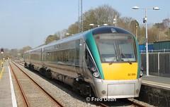 ICR Set 5 in Enniscorthy. (Fred Dean Jnr) Tags: march2012 wexford dublinwicklowwexfordrailway iarnrodeireann irishrail sparelinkrailtour icr 22005 enniscorthy enniscorthystationwexford intercityrailcar rotem railcar