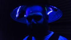 David (C.E.Szaro) Tags: guy hat rave lights blue purple night glow trippy dramatic colorful