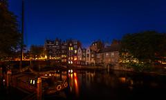 Blue Hour Café de Oude Sluis in Delfshaven (colin@thecranes.co.za) Tags: 2018 rotterdam reflections delfshaven netherlands cafédeoudesluis bluehour cityandarchitecture