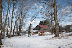 Barns & Stuff (A. E. Newman) Tags: architecture trees usa pa landscape vacations travel old scenic pennsylvania sky farm vacation historic barn wayne winter snow cold