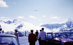 Glider (zeesstof) Tags: geo:lat=4711898632 geo:lon=1282859240 geotagged zeesstofsmom kodachrome film 35mmslidefilm mamiya 1969 summerholiday mountains alps austrianalps triptothegrossglockner snow snowinsummer aircraft glider