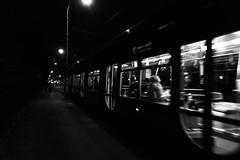 Night walk in my loving Zagreb :) (ana_kapetan_design) Tags: walk blur dark light street tram people zagreb