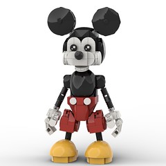 LEGO Mickey Mouse (Alex Kelley) Tags: figure action design toy disney mouse mickey custom moc lego