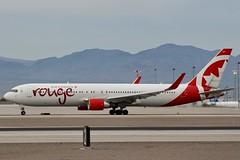 Rouge 767 (So Cal Metro) Tags: aircanada rouge aircanadarouge boeing 767 cghpe las lasvegas mccarranairport mccarran vegas airliner airline aircraft aviation airport jet