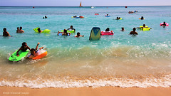 Beach Fun, Waikiki Beach, Honolulu,Oahu, Hawaii,USA (Black Diamond Images) Tags: beachfun waikikibeach honolulu oahu hawaii usa bodyboards surffloats floats fun water surf waves waikiki beach usabeaches hawaiianbeaches hawaianbeaches westernusatrip2018 2018 canond60 sigma1770 1770