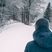 Winter walk in fresh snow