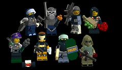 Rainbow Six Lego (Gallisuchus (Clayface)) Tags: lego digital designer tom clancy rainbow six siege operators iq finka buck kapkan smoke ela blitz hibana camera drone