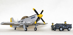 North American P-51D with Willys jeep (John C. Lamarck) Tags: lego fighter ww2 wwii oxford military war aircraft plane avion