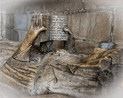 In The Sanctuary - The Eternal Read (Gene Mordaunt) Tags: 14thcentury dmariadevillalobos gothic lisbon lisboncathedral portugal book carving marble niche reading statue tomb wife nikon810