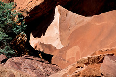 Ponder the Khoikhoi _4069-2 (hkoons) Tags: burntmountains organpipes southernafrica doleritecolumns africa african boulders khoikhoi namibia painted palmwag twyfelfontein ancient art artist bushman bushmen colors dolerite draw drawings hills landscape old outdoors paint painting panorama petroglyph petroglyphs picture pictures rocks rocky sandstone stone
