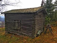 Old barn, Siljansnäs, Dalarna, Sweden in November (SwedishPhotoBear) Tags: iphone sverige schweden sweden november view dalarna barn