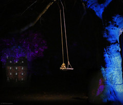 Haunted Swing (Rollingstone1) Tags: swing darkness haunted shadows clown doll dollshouse horror creepy atmosphere outdoor garden night dark tree