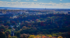 Fall Colors in Arlington National Cemetery and Air Force Memorial viewed from Observation Deck at CEB Tower Rosslyn VA (mbell1975) Tags: arlingtoncounty virginia unitedstates us fall colors arlington national cemetery air force memorial viewed from observation deck ceb tower rosslyn va washingtondc washington dc usa america aerial view autumn color colour colours tree trees leaves leafs