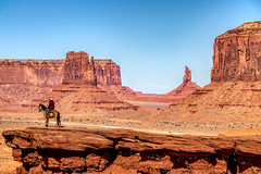 Monument Valley, Arizona, USA (Aethelweard) Tags: monumentvalley arizona unitedstates us cowboy western spaghetti oldwest wildwest geology butte rocks sky cliff desert horse scenery landscape beautiful valley colorado