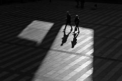 parcel (O.Krüger) Tags: niedersachsen hannover germany deutschland streetphotography sw schwarzweis socialdocumentary streetlife silhouette monochrom bw bianconero blackwhite peopleinthecity people passage urban urbanexploration