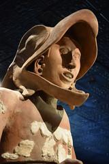 Eagle Warrior close up (DSLEWIS) Tags: aguila guerrero guerreroaguila ceramic statue eaglewarrior eagle warrior aztec templemayor mexicocity ciudaddemexico ancient archaeology museum museo temple mexico