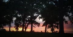 horizons....(HSS) (BillsExplorations) Tags: sliderssunday slide hdr cemetery peace serenity sunset trees landscape clouds dusk graveyard oakknoll illinois shadows horizon hss
