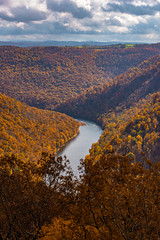MCZ_2266 (markczerner) Tags: landscape outdoors fall colors fallcolors autumn orange red trees nature river coopers rock coopersrock statepark park west virginia wv wva countryroads country roads cheatriver valley mountains forest