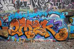 Omek (NJphotograffer) Tags: graffiti graff new jersey nj bridge trackside rail railroad catwalk omek ogc crew