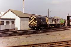 BRITISH RAIL 08561, 08675 & 08586 (bobbyblack51) Tags: british railways class 08 english electric 060 diesel shunters 08561 08675 08586 ayr depot 1993