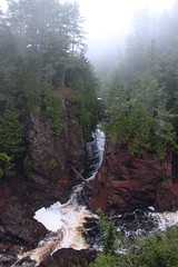 Tyler Forks and the Bad River Gorge (kerstynp) Tags: tylerforks badriver copperfallsstatepark copperfalls river waterfall basalt trees fog water nature stateparks recreation wild gorge