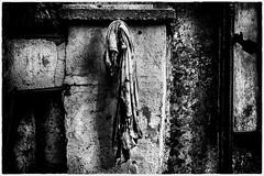 Vie et mort d'un tee-shirt / Life and death of a t-shirt (vedebe) Tags: noiretblanc netb nb bw monochrome abandonné decay