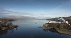 Lomond Panorama (Romeo Mike Charlie) Tags: balloch sealife lake lochlomond mountian ben beinn maidoftheloch ship paddlesteamer scotland