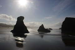 Brad disappears into the distance (rozoneill) Tags: bandon beach face rock coquille point river devils kitchen oregon coast trail hiking