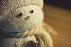 . (jlomax8) Tags: sock snowman scarf macro white button pins hat